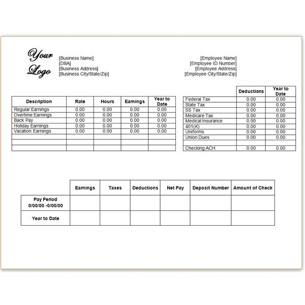 Image result for pay stub template images
