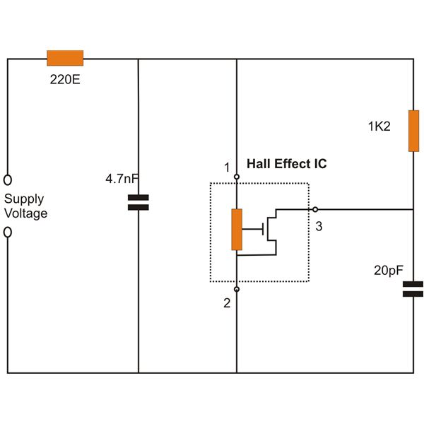 schematic circuit diagram hall effect