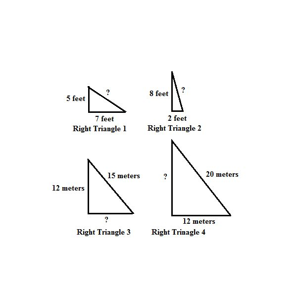 Practice Using the Pythagorean Theorem to Find Missing