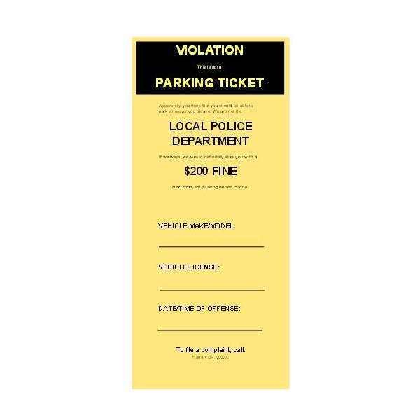 police ticket template free download