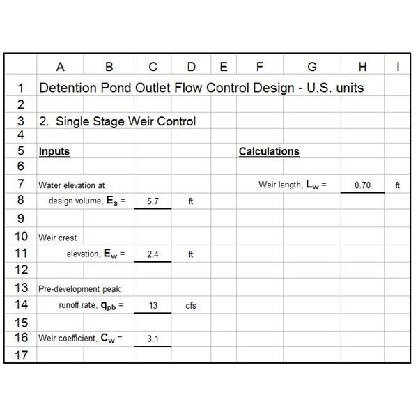Design Pond Orifice Detention