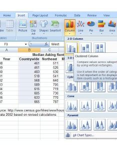 Choose clustered column chart also how to make  bar or in microsoft excel rh brighthub