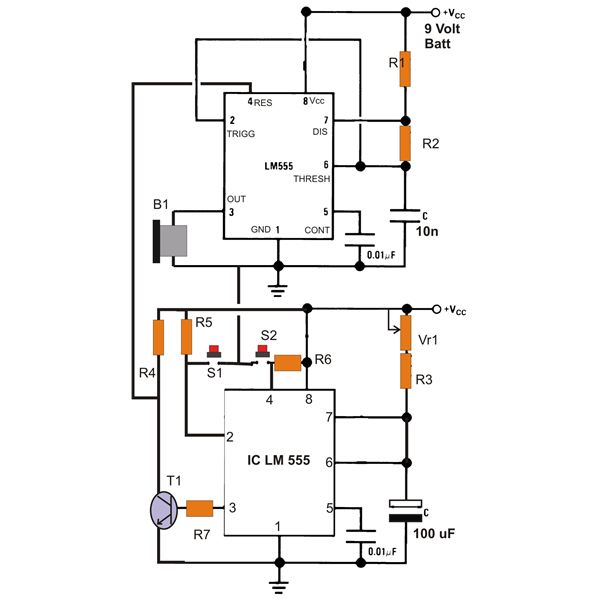 the circuit diagram of simple buzzer