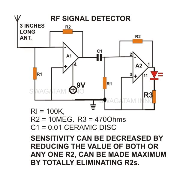 how to draw a circuit diagram ceiling rose wiring uk build simple non contact ac voltage detector sensor mains image