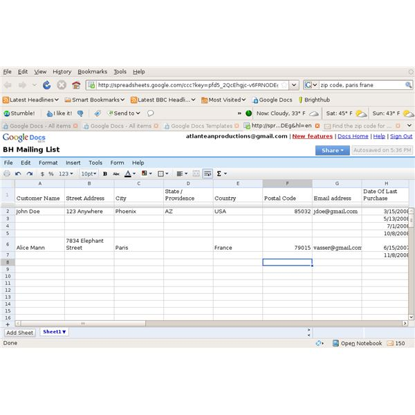 How to Create Mailing Lists Using Google Spreadsheets