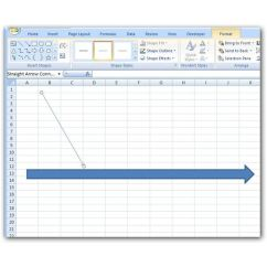 Fishbone Diagram Word Kenmore Gas Dryer Wiring How To Create A In Microsoft Excel 2007 Place The Line Desired Position