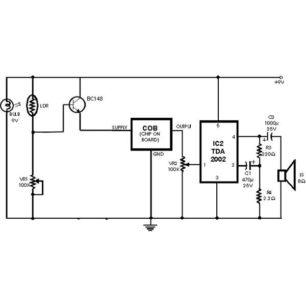 Photoelectric Smoke Detector Circuit Diagram