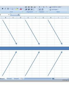 Diagram with several lines also how to create  fishbone in microsoft excel rh brighthubpm