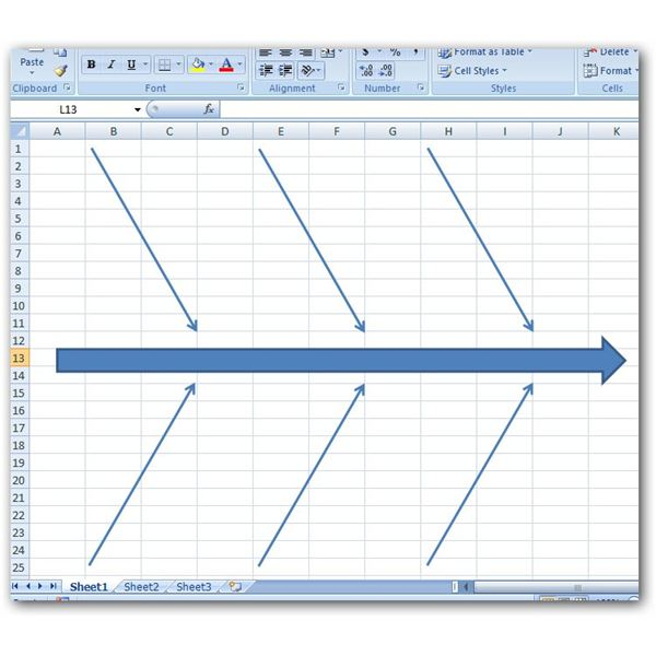 fishbone diagram template excel free giordon car alarm system wiring how to create a in microsoft 2007 with several lines