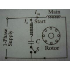 Ac Motor Run Capacitor Wiring Diagram Manual Boeing Start Motors Explanation Of How A Is Circuit During Starting