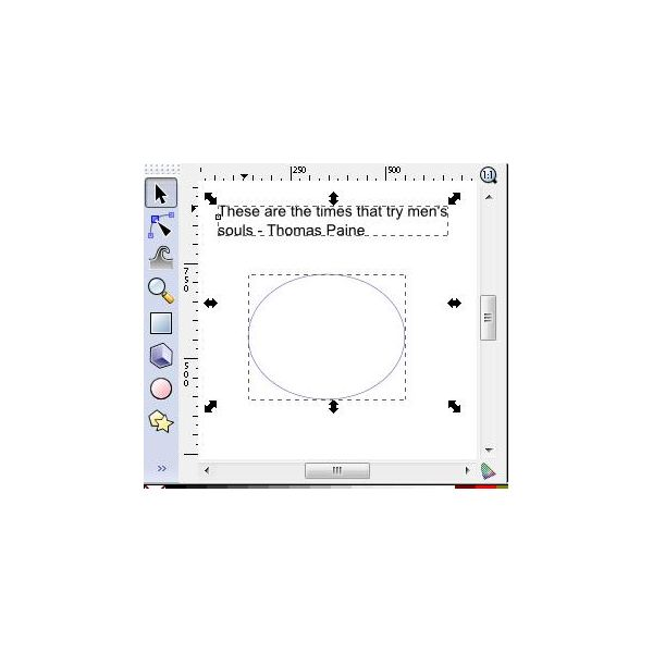 Using Inkscape to Create Text Paths: Learn to Use Shapes
