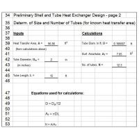 Heat Exchanger Calculations and Design with Excel ...