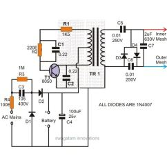 Pat Trap Wiring Diagram Hand Skeleton Mosquito Zapper Circuit And Theory Of Operation Image
