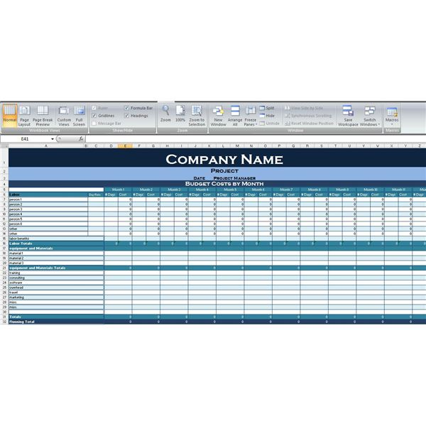 Use This Excel Project Budget Template to Simplify Your Next ...