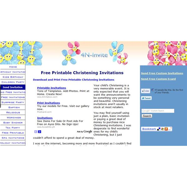 Free Christening Invitations Five Recommended Websites