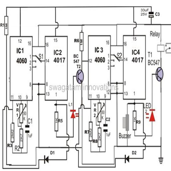 build a twostage programmable timer counter circuit
