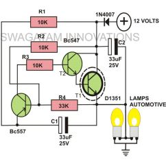 Electronic Flasher Unit Wiring Diagram Herbivore Carnivore Omnivore Venn How To Build A Heavy Duty 12 Volt Detailed Description Circuit Image Indicator Lights