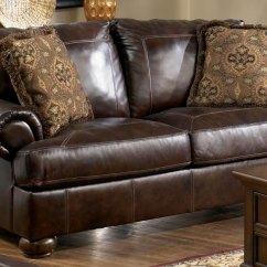 Ashley Leather Sofas And Loveseats Sofa Battersea Reverse Auction Furniture Axiom Walnut Loveseat Chair 1 2 Ottoman