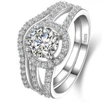 Engagement Rings - Stunning 925 Silver 5 ct Lab Created ...