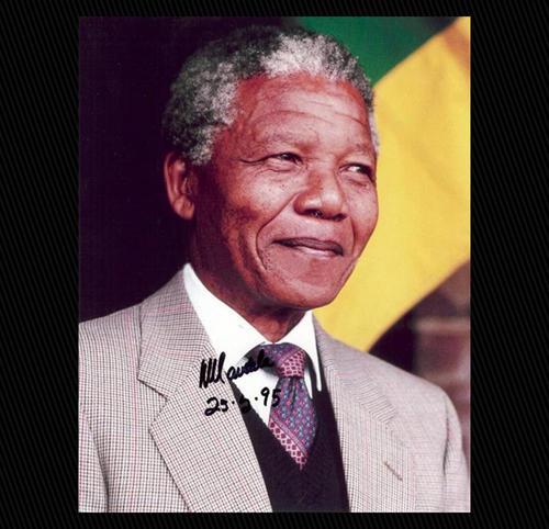 Mandela Memorabilia Nelson Mandela Signed And Dated