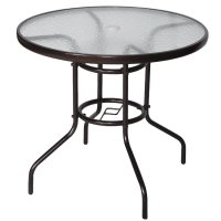Furniture Sets - Outdoor Dining Table Patio Tempered Glass ...