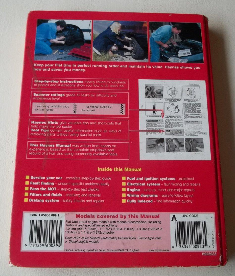 medium resolution of fiat uno 1983 95 workshop manual