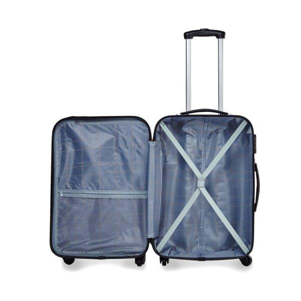 Luggage Sets - 2 Piece Trolley Abs Hard Bag Set Small & Medium Coffee Sold