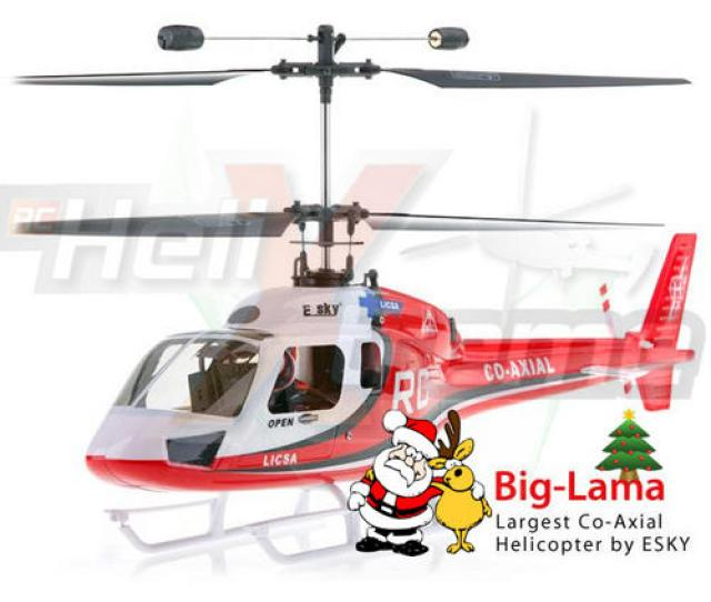 Brand New 2010 Esky Big Outdoor Lama 4ch Co Axial R C Helicopter Red Free Flight Simulator