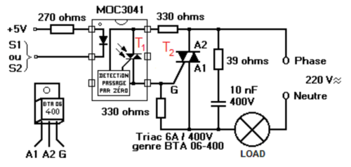 opto coupler circuit