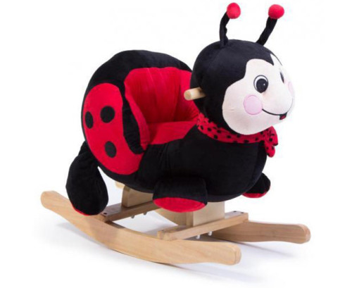 animal rocking chair with umbrella attached ride on 2 in 1 plush rocker ladybug was listed