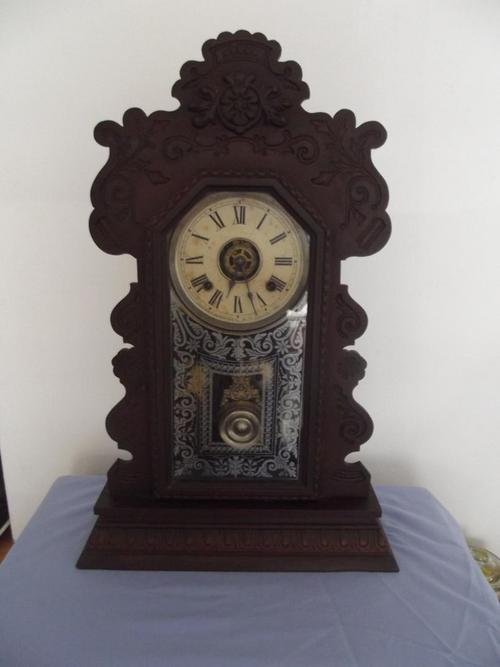 Mantel Clocks   An Antique Ansonia Gingerbread Kitchen