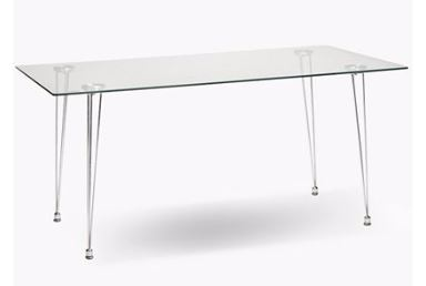Tables  Milan Glass 6 Seater Dining Table was listed for
