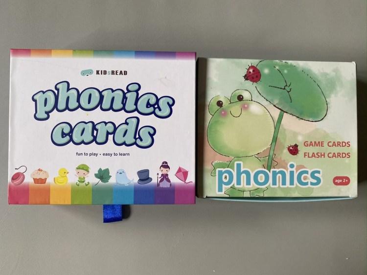 KIDSREAD 幼兒聲感學習-自然發音字卡桌遊(新舊比較)。Live phonics 自然發音字卡/JPR Phonics Reader