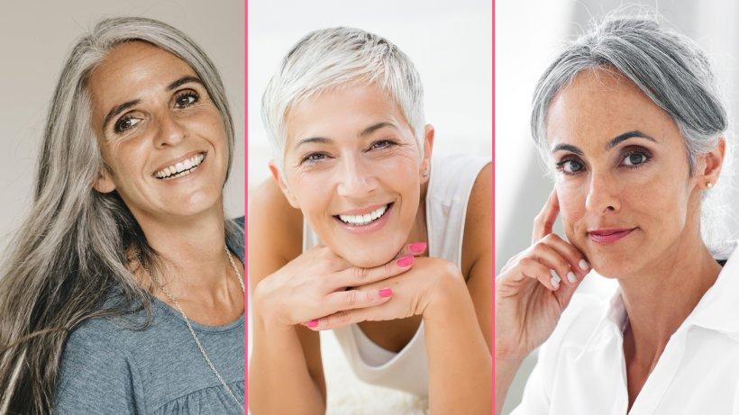 Frisuren Und Stylingtipps Für Graue Und Weiße Haare Bild Der Frau