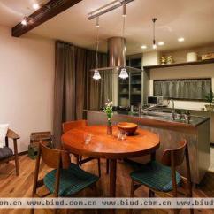 Round Glass Kitchen Table Yellow Pine Cabinets 开放式厨房 小空间大视觉 - 家居装修知识网