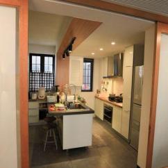 Kitchen Wood Cabinets White Quartz Countertops 简约时尚小户型设计客厅兼书房效果图 - 家居装修知识网