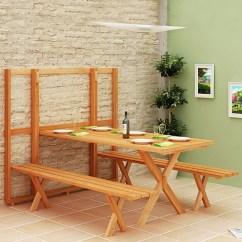 Benches For Kitchen Table Frameless Cabinets 变形家具 超级省空间的户外餐桌(组图) - 家居装修知识网