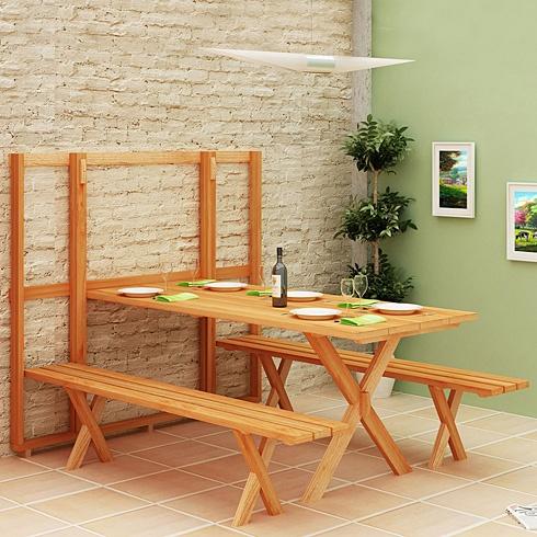 kitchen banquette aid toasters 变形家具 超级省空间的户外餐桌(组图) - 家居装修知识网