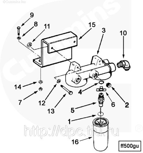 Фильтр для топлива Cummins Fleetguard FF5040 Флитгард в