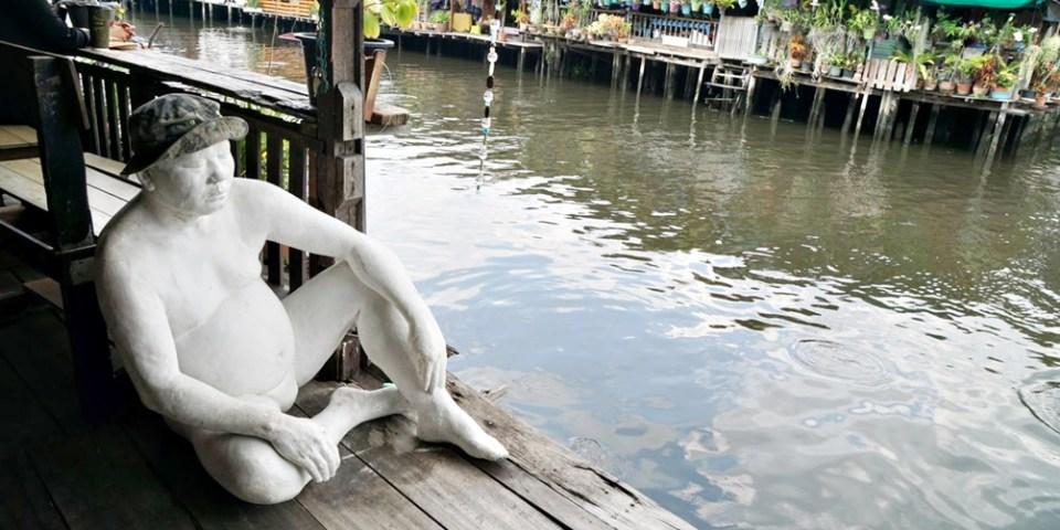 【曼谷景點】捷運MRT線Bang Phai站,曼谷在地小清新藝術之家Baan Silapin Artist`s House+螢光琉璃佛塔水門寺 Wat Paknam