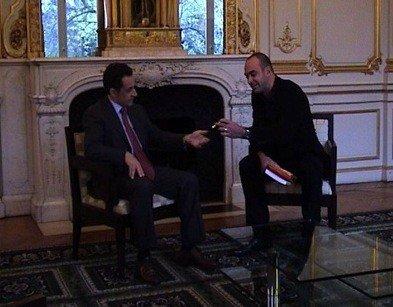 Loic LeMeur con Sarkozy