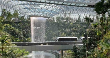 Interior del aeropuerto de Singapur
