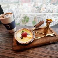 台中南區│咖啡任務-台中最高視野無敵的咖啡館藏身辦公大樓.窗邊位置好搶手