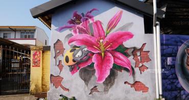 台中后里│后里舊社里彩繪村-農村社區中尋找花現幸福3D立體彩繪