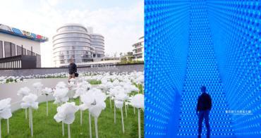 台中大里│台中軟體園區Dali Art藝術廣場-玫瑰花海新祕境,絢爛水晶光廊打卡點