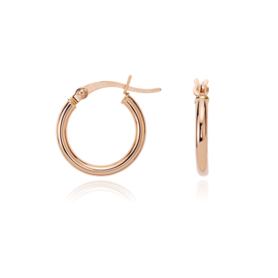 Small Hoop Earrings Yellow Gold