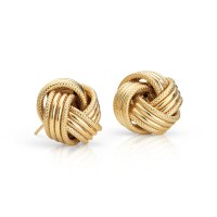 Grande Love Knot Earrings in 14k Yellow Gold | Blue Nile