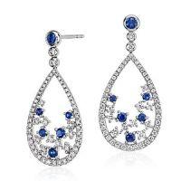 Blue Nile Studio Something Blue, Sapphire & Diamond Floral ...