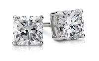 Cushion Diamond Stud Earrings in 14k White Gold (1 ct. tw