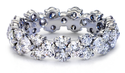 Garland Diamond Eternity Ring In Platinum Blue Nile